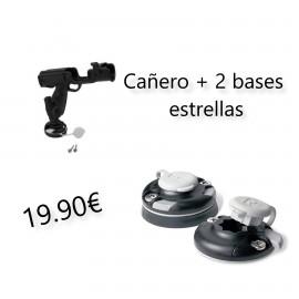 CAÑERO 360º + 2 BASES ESTRELLAS