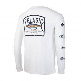 CAMISETA PELAGIC AQUATEK GAME FISH WHITER TALLA L
